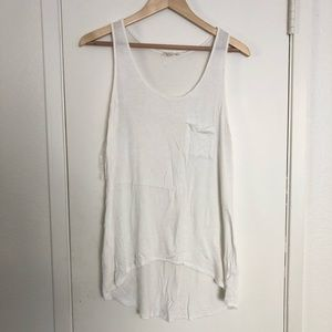 Zenana Outfitters white long tank top